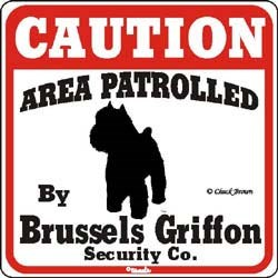 Brussels Griffon Caution Sign