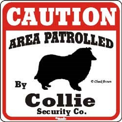 Collie Caution Sign