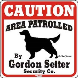 Gordon Setter Caution Sign