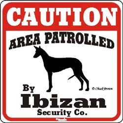 Ibizan Hound Caution Sign