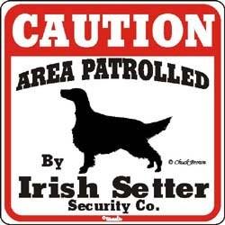 Irish Setter Caution Sign