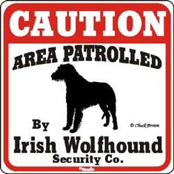 Irish Wolfhound Caution Sign