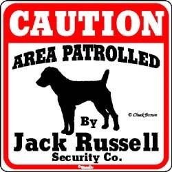 Jack Russell Terrier Caution Sign
