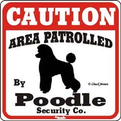 Poodle Caution Sign