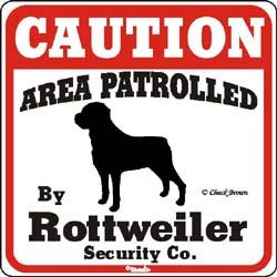 Rottweiler Caution Sign