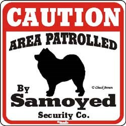 Samoyed Caution Sign