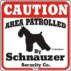 Schnauzer Caution Sign