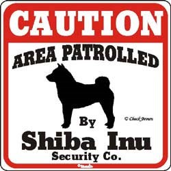 Shiba Inu Caution Sign