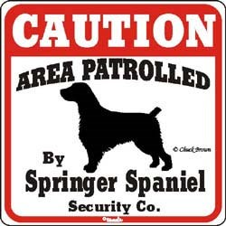 Springer Spaniel Caution Sign