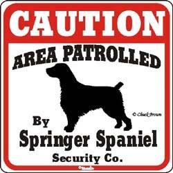 Springer Spaniel Caution Sign