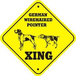 German Wirehaired Pointer Crossing