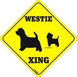 West Highland Terrier Crossing