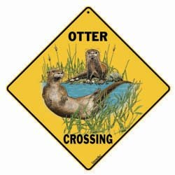 River Otter Sign