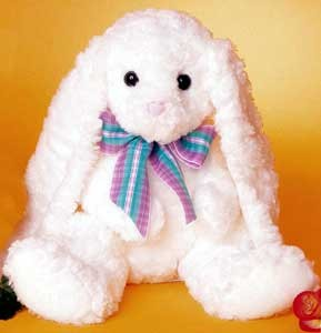 Rabbit Plush with Ribbon