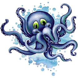 Octopus T-Shirt - Bright and Vivid