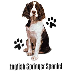 English Springer Spaniel T-Shirt - Stylin With Paws Brown