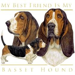 Basset Hound T-Shirt - My Best Friend Is