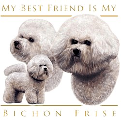 Bichon Frise T-Shirt - My Best Friend Is