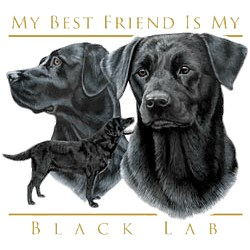 Black Lab T-Shirt - My Best Friend Is