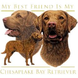 Chesapeake Bay Retriever T-Shirt - My Best Friend Is