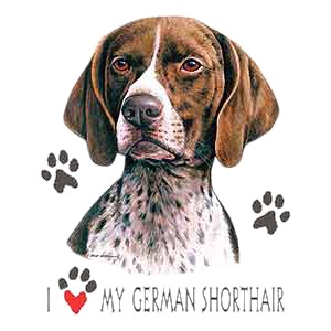 German Shorthaired Pointer T-Shirt - I Heart My