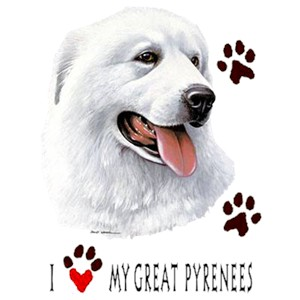 Great Pyrenees T-Shirt - Paw Prints