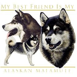 Alaskan Malamute T-Shirt - I Heart My