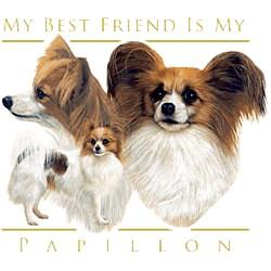 Papillon T-Shirt - My Best Friend Is