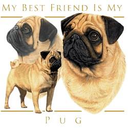 Pug T-Shirt - My Best Friend Is