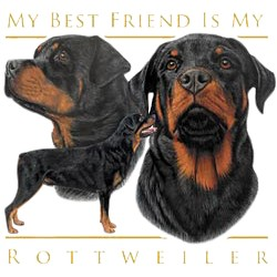 Rottweiler T-Shirt - My Best Friend Is