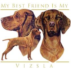 Vizsla T-Shirt - My Best Friend Is