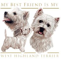 West Highland Terrier T-Shirt - My Best Friend Is