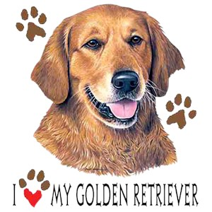 Golden Retriever T-Shirt - I Heart My