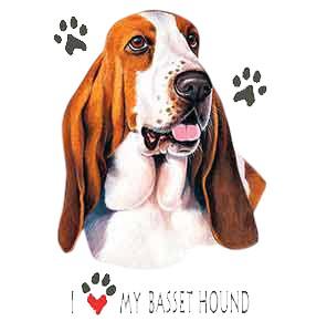 Basset Hound T-Shirt - I Heart My
