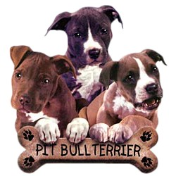 Pit Bull Terrier T-Shirt - Trio of Three