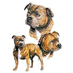 Staffordshire Bull Terrier T-Shirt - Best Friends