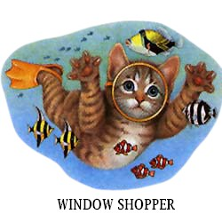 Cat T-Shirt - Window Shopper