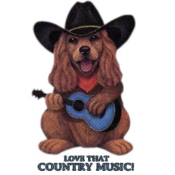 Dog T-Shirt - Love Country Music
