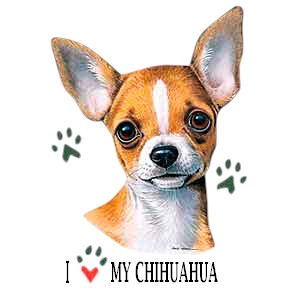 Chihuahua T-Shirt - I Heart My