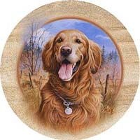 Golden Retriever Drink Coasters