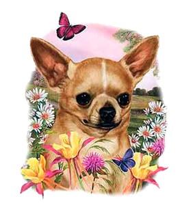 Chihuahua T-Shirt - Flowers
