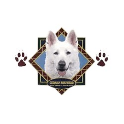 White German Shepherd T-Shirt - Diamond Collection