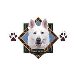 White German Shepherd T-Shirt - Diamond Collection