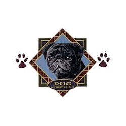 Black Pug T-Shirt - Diamond Collection