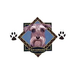 Schnauzer T-Shirt - Diamond Collection Uncropped