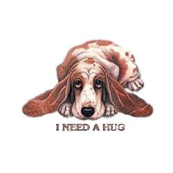 Basset Hound T-Shirt - I Need a Hug