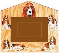 Basset Hound Decorative Picture Frame