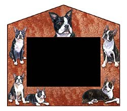 Boston Terrier Decorative Picture Frame
