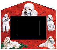 White Poodle Decorative Picture Frame