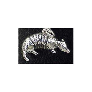Armadillo Sterling Silver Charm